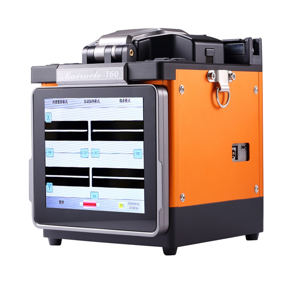 Fiber Optic Equipments 4 Motor Optical Fiber Fusion Splicer Machine Mfs-t60 For Ftth Network Warm And Windproof