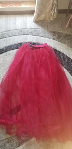 4Layers Black Overlay Skirt Fashion Long Tutu Tulle Skirt Bride Overskirt Chic Floor Length Saia Longa Detachable Wedding Skirts photo review