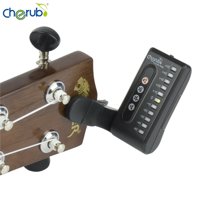 Cherub WST-550U Portable Digital Clip On Type Ukulele Tuner LCD Display Tuning Mode C D Key Ukulele Stringed Instruments Parts
