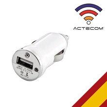 ACTECOM CARGADOR COCHE USB MECHERO BLANCO PARA Teléfonos MOVILES GPS TABLETAS UNIVERSAL PARA SAMSUNG IPHONE XIAOMI HUAWEI.