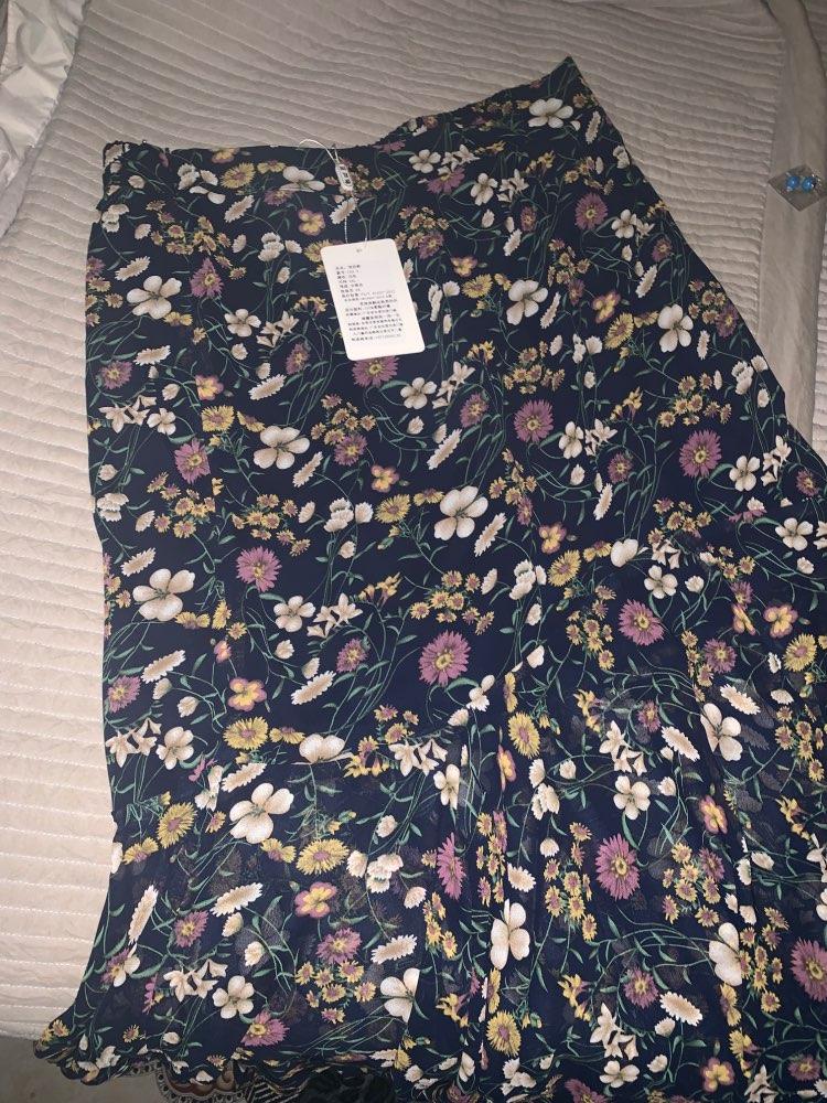 Summer Bohemian Long Chiffon Trumpet Skirt Women Plus Size High Waist Ankle Length Ruffles Slim Hip Print Mermaid Skirt For Girl photo review