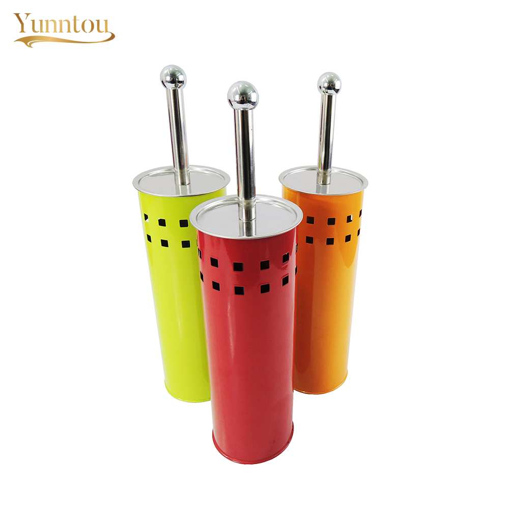 Toilet Brush Set Metal Holder Bathroom Cleaner Curved Bowl Brush Washroom Cleaning Accessories Tools Stainless Steel Handle