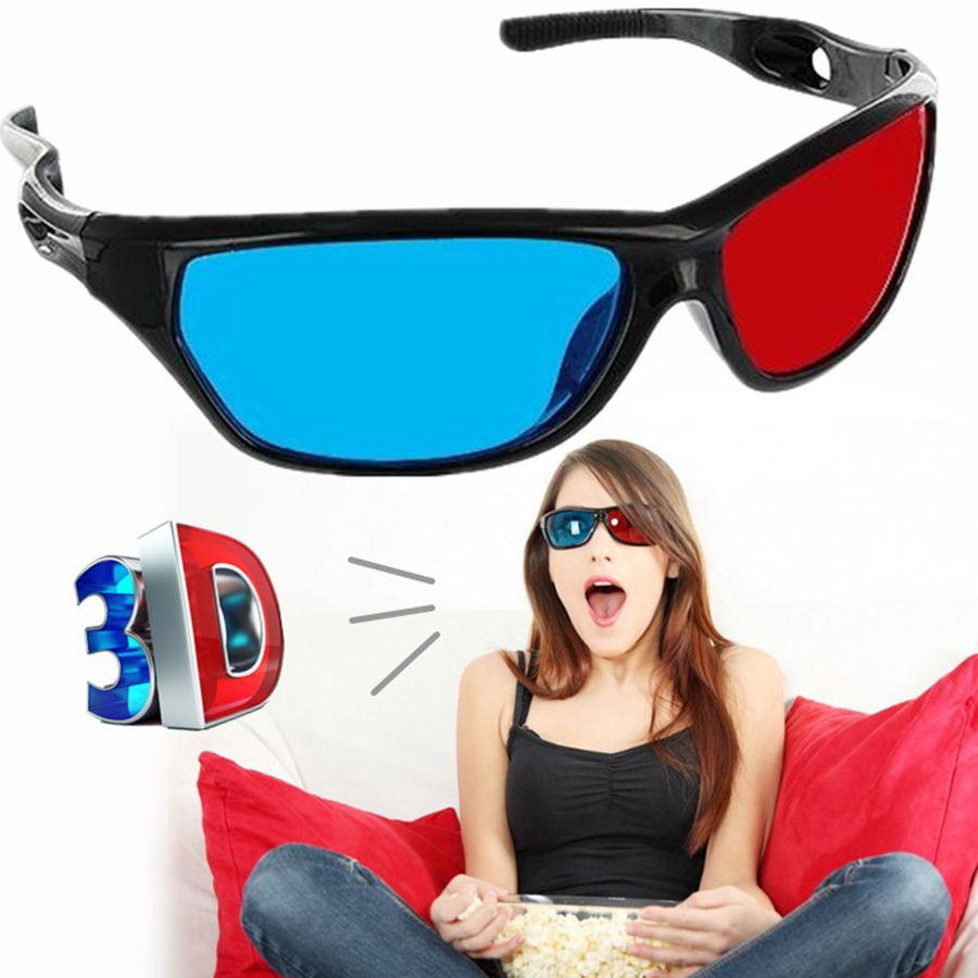 2018 3D Glasses 2PCS Red-blue / Cyan Anaglyph Simple Style 3d Movie Game-extra Upgrade Style Apply to Desktop PC-laptop shiping