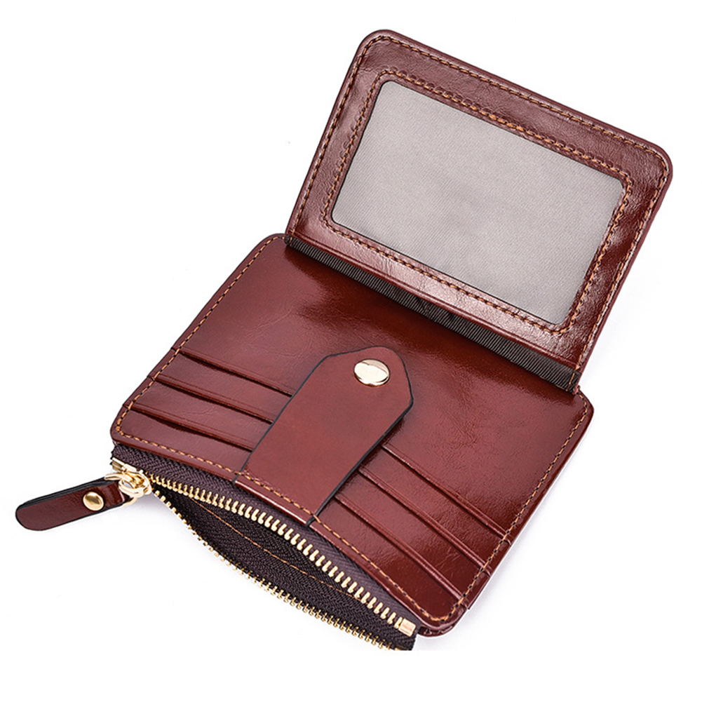 Retro Men Faux Leather Short Wallet Cash Card Organizer Mini Coin Purse Holder vsen hot men luxury leather card cash receipt holder organizer bifold wallet coin purse