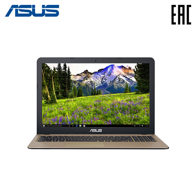 "Ноутбук Asus R540YA-XO112T 15.6"" / AMD E1-7010 / 2Gb / 500Gb / Radeon R2 / noODD / Win10 / ( 90NB0CN1-M02300 ) Черный/Золотистый"