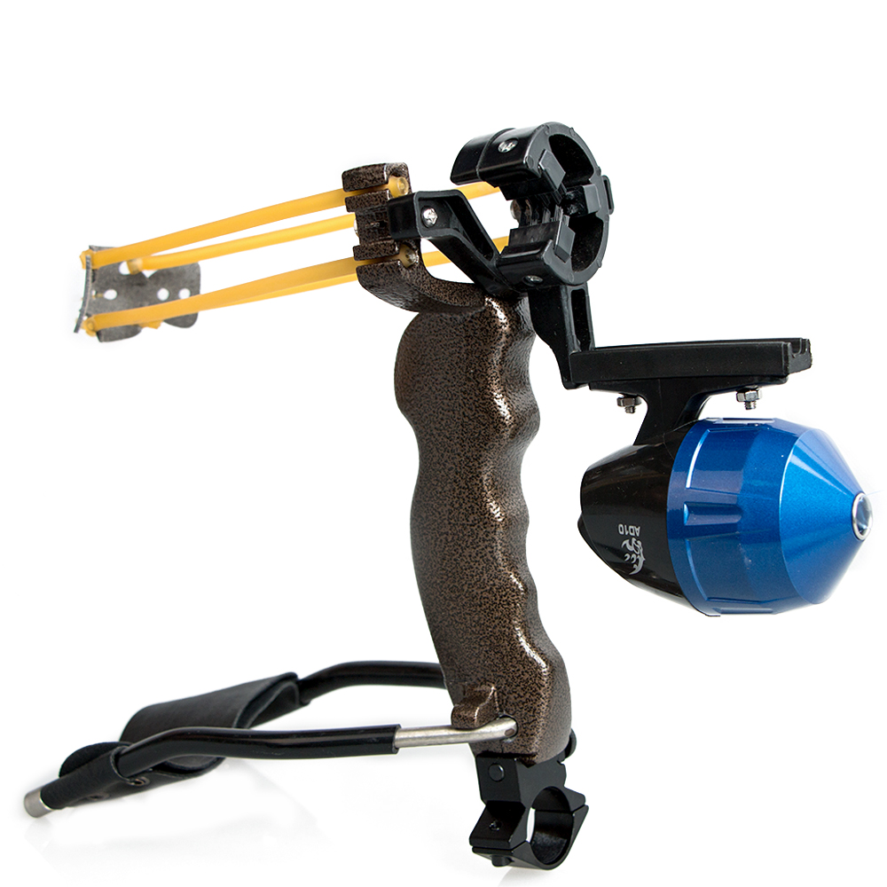 все цены на Archery Adult Powerful Fishing Slingshot Target Shooting with Folding Wrist Catapult Professional Hunter Hunting Sling Shot