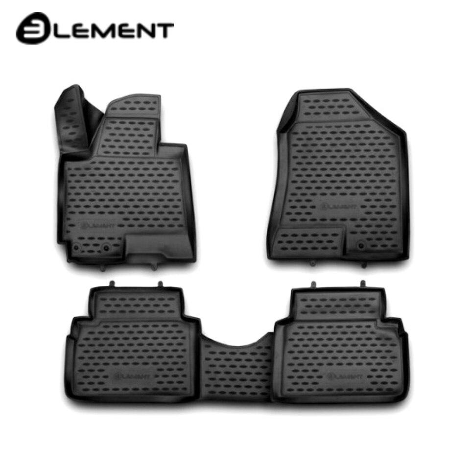 Para Hyundai ix35 2010-2015 3D tapetes em saloon 4 pçs/set Elemento NLC3D2036210K