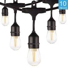 Wasserdicht 10 M 10 LED String Lichter Indoor Outdoor Kommerziellen Grade E26 E27 Straße Garten Patio Hinterhof Urlaub String Beleuchtung