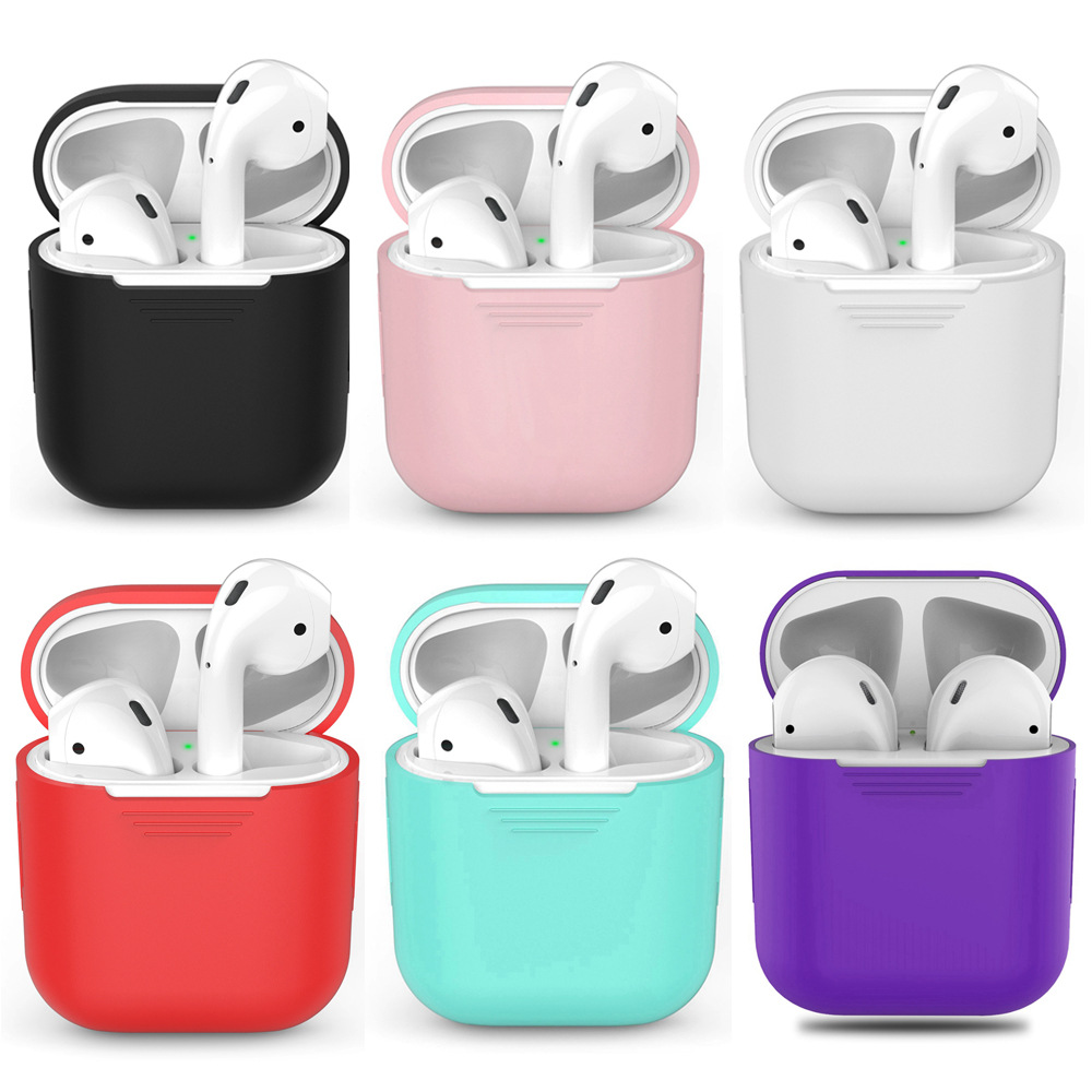 1PCS TPU Silicone Bluetooth Wireless Earphone Case For AirPods Protective Cover Skin Accessories for Apple Airpods Charging Box (1)