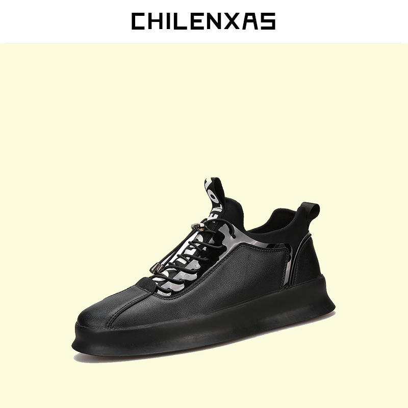 CHILENXAS 2017 Autumn Winter Leather Shoes Men Casual Designer New Fashion Breathable Height Increasing Comfortable Waterproof chilenxas 2017 new spring autumn soft leather breathable comfortable shoes flats men casual fashion solid slip on handmade