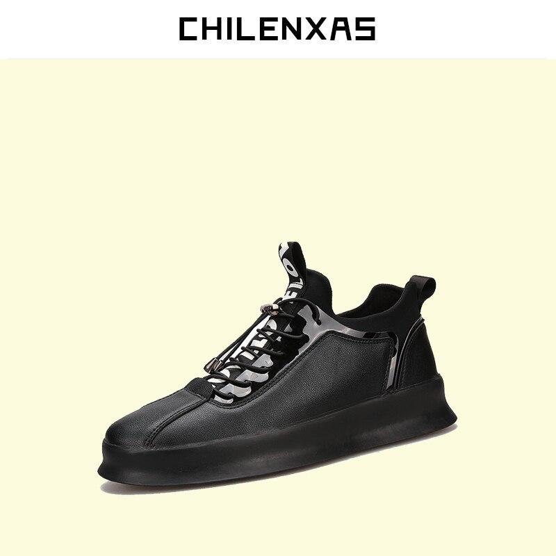 CHILENXAS 2017 Autumn Winter Leather font b Shoes b font Men font b Casual b font