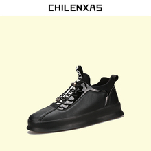 CHILENXAS 2017 Autumn Winter Leather Shoes Men Casual Designer New Fashion Breathable Height Increasing Comfortable Waterproof