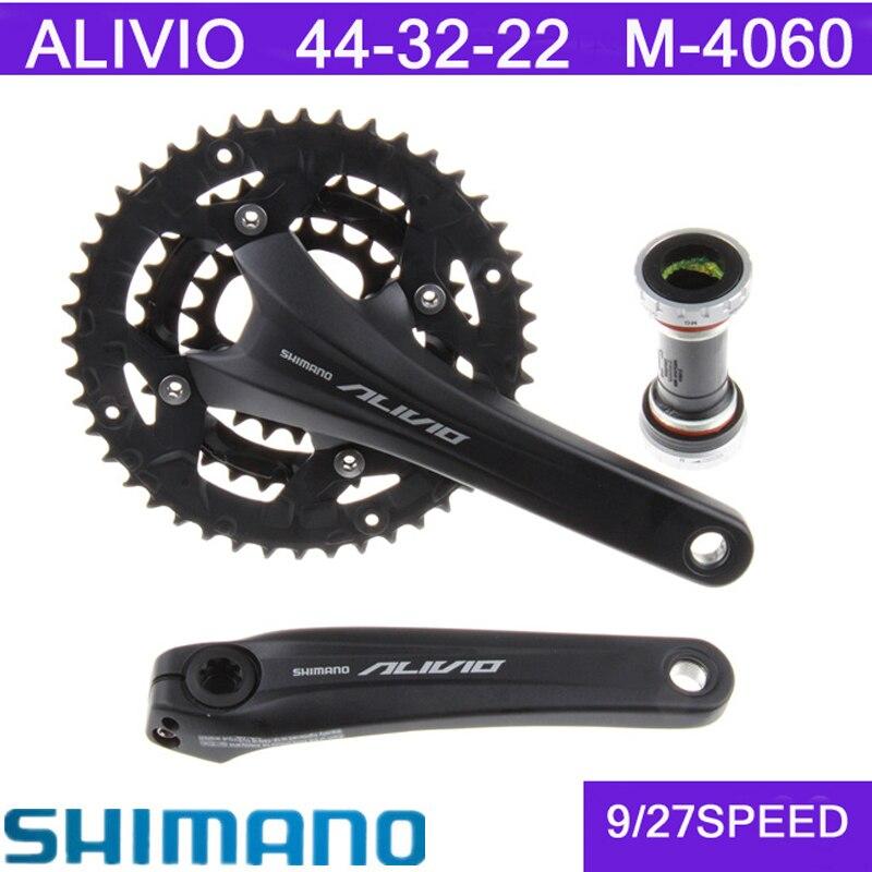 SHIMANO ALIVIO 4000/4050/4060vtt VTT pièces de bicyclette, y compris BB51 Central 44-32-22T 3X9 vitesses