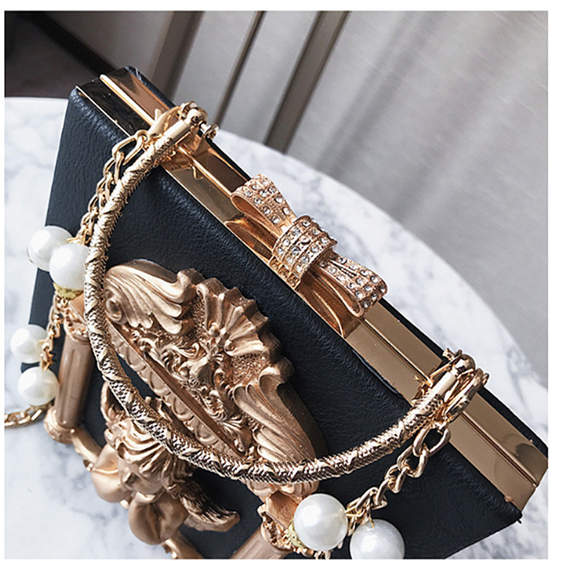 YISHOW High-end custom baroque Evening bag Angel handbag diamant box chain shoulder bag dress Business party formal crossbody ba