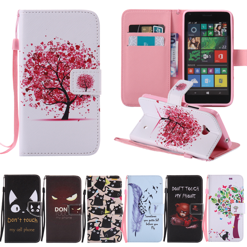 For Microsoft Nokia Lumia 640 950 Xl Lte Dual Sim Leather Case Flower Stand Wallet Phone Cover For Nokia 640xl 950xl Case Clothing, Shoes & Accessories