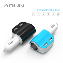 ARUN Mini USB Car Charger For Mobile Phone Tablet 3.1A Fast Car-Charger Dual Adapter in