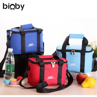Waterproof Oxford Insulation Bag Baby Diaper Milk Bottles Food Supplement Tote Bag Cooler Insulated Zippered Containers