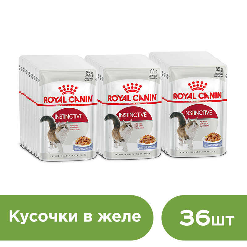 Cat wet food Royal Canin Instinctive slices in jelly (0.085 kg*36 pieces)
