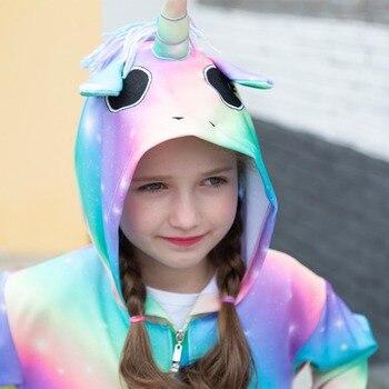Rainbow Unicorn Hooded Jacket