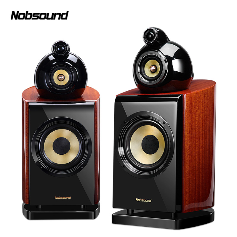 Nobsound DM8 1 Pair 6.5 inches Three-Way Wood Bookshelf Speakers 2.0 HiFi Column Sound Home Professional speaker