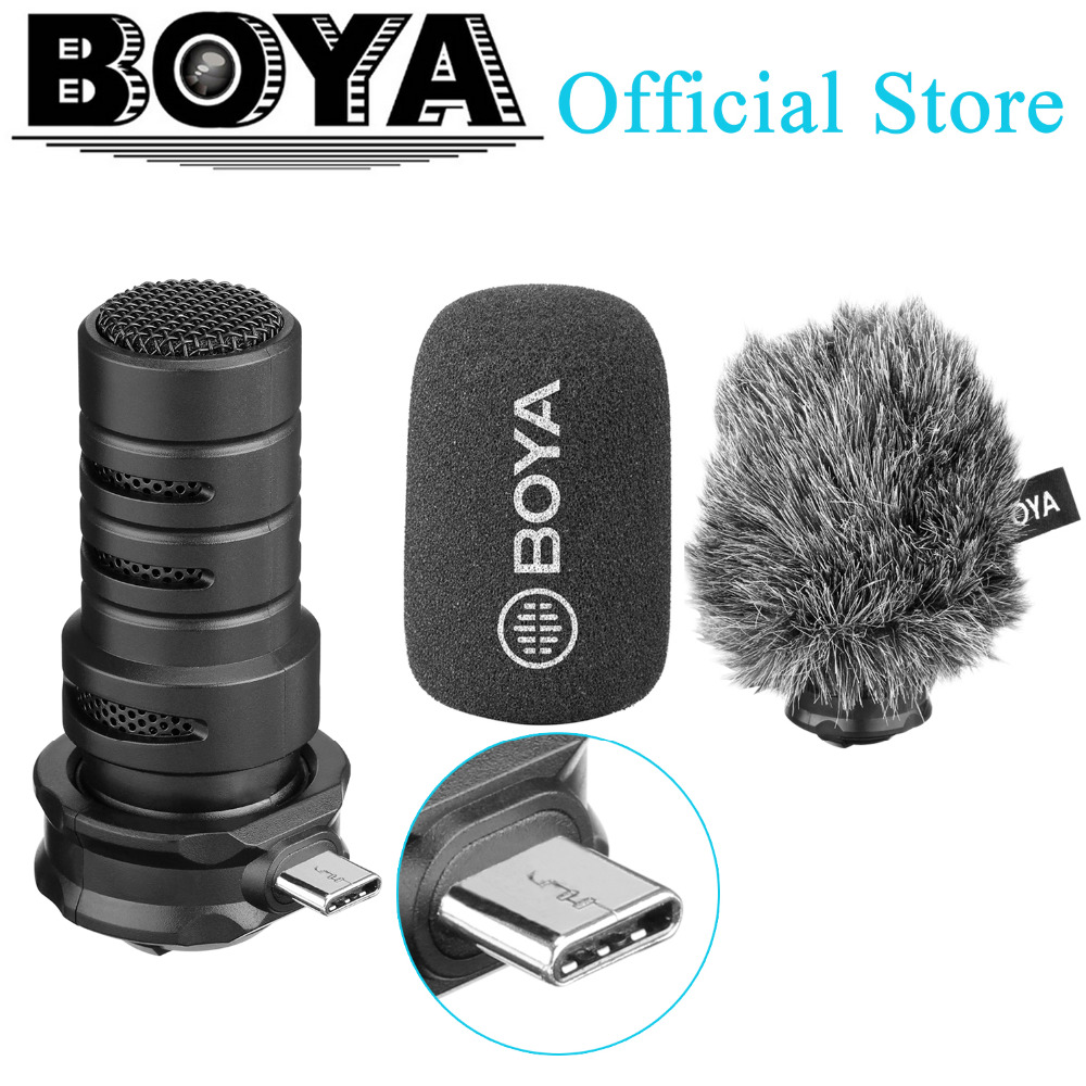 BOYA BY-DM100 fusil de chasse Microphone pour Android numérique condensateur stéréo Microphone superbe son USB type-c appareils d'enregistrement