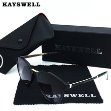 KAYSWELL Sunglasses Women Outdoor UV400 Sun Glasses Cat Eye Ladies Oculos Gafas De Sol D1736