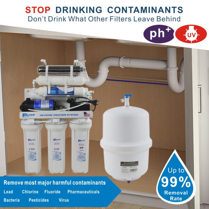 7 Stage Under Sink Reverse Osmosis Drinking Water Filtration System with  Alkaline Remineralization Filter & UV 100GPD/220 240V|Water Filters| -  AliExpress