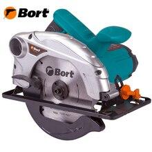 Пила циркулярная Bort BHK-185N (Мощность 1200 Вт, Диск 185 мм, регулировка угла и глубины пропила, параллельная направляющая)