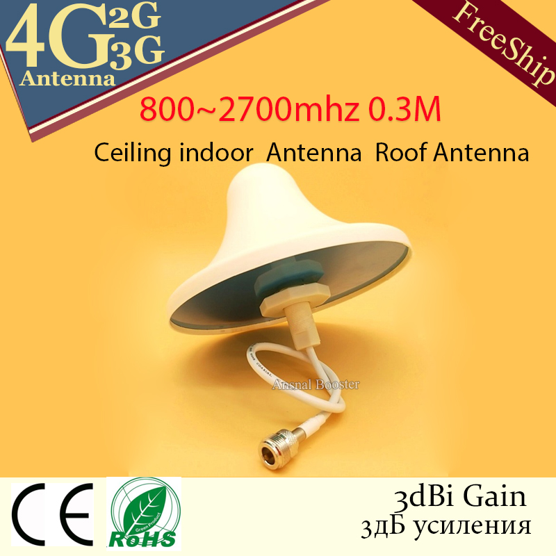 4G Celular Antenna Lte 3g Antenna Omni Indoor 2g 4g Antenna Ceiling Internal Antenna For Cell Phone Signal GSM Booster Repeater