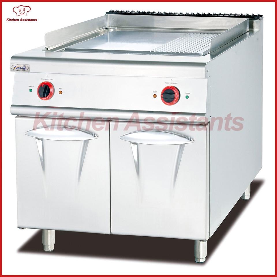 Haushaltsgeräte Eh886c Elektrische Kochplatte Mit Schrank Mit 1/3 Rillen Für Gewerbliche Nutzung Fortgeschrittene Technologie üBernehmen