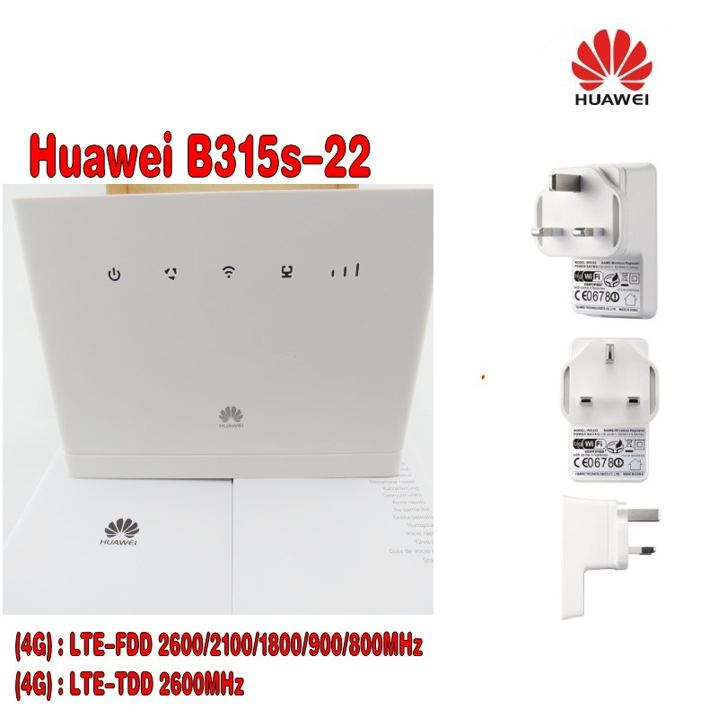 Home set of Huawei B315s-22 4G LTE Router with Wi-Fi Hawei amplifier,  booster