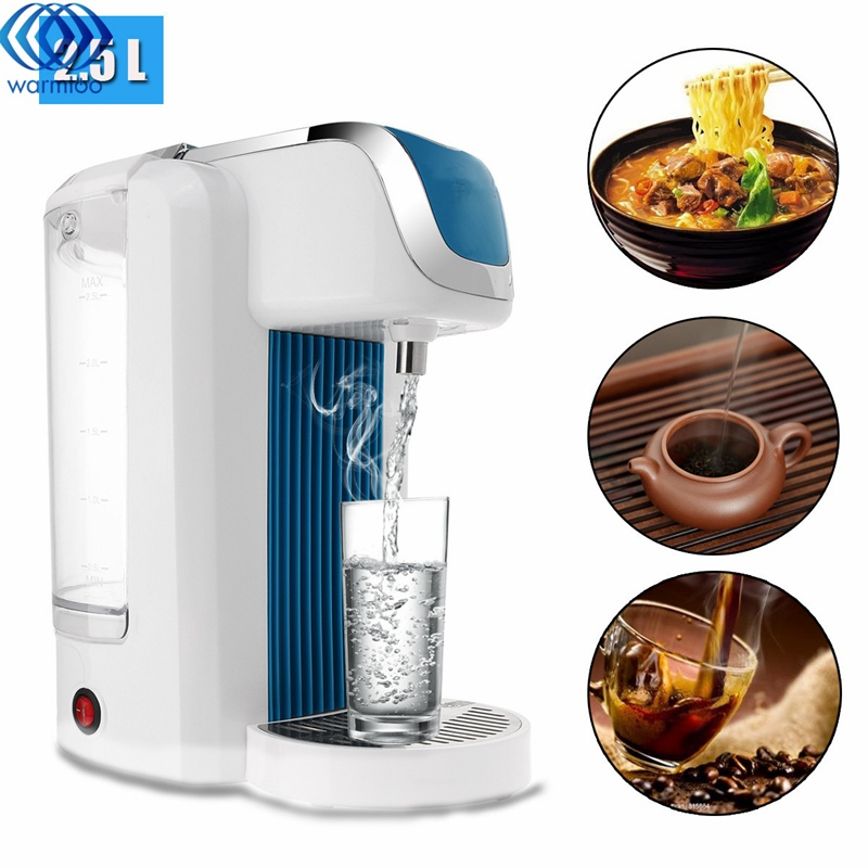 Electric Kettle 2.5L Instant Heating Fast Hot Water Dispenser Kettle Boiler Heater Desktop Safe Healthy 220-240V 2200W ac380v 6kw 6p terminals water boiler heating element 3u tube heater