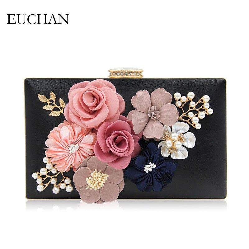 895993a36 Euchan Handmade Floral Garras Dia Bolsa para Mulheres Wedding Party Nupcial  Sacos Aba Quadro Fecho Evening