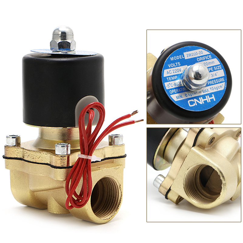 Electric Solenoid Valve 3/4 220V Pneumatic 2 Port2W-200-20 For Water Oil Air Gas