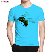 BGtomato T shirt 3D Bumblebee design cool men t shirt Cheap sale brand new fashion 3d printed t-shirts Cool summer t-shirt men(China)