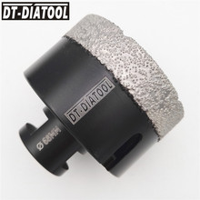DT-DIATOOL 68mm Dry Vacuum Brazed Diamond Drill Core Bits Hole Saw Professional Drilling granite marble tile M14 thread diatool diameter 40mm vacuum brazed diamond drilling core bits with 10mm diamond height hole saw granite marble ceramic