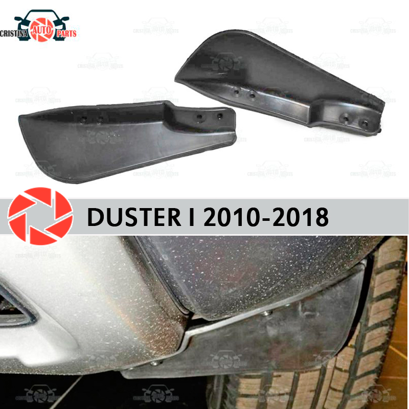 Shields on front bumper for Renault Duster 2010-2018 aerodynamic rubber trim anti-splash guard accessories mud guard car styling