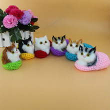 1 Pcs Simulation Cat Plush Toy Toys Slippers Furnishing Articles Call Animal Super Cute font b