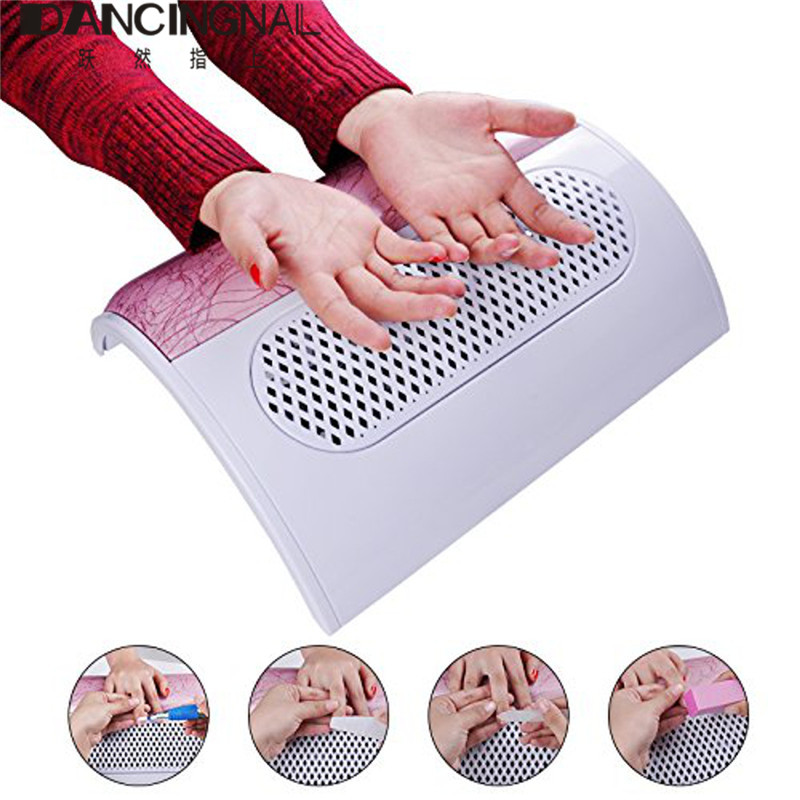 New Nail Dust Suction Collector 3 Fan Vacuum Fingernail Dirt Cleaner Salon Manicure Tools With 3 Dust Collecting Bags 110/220V
