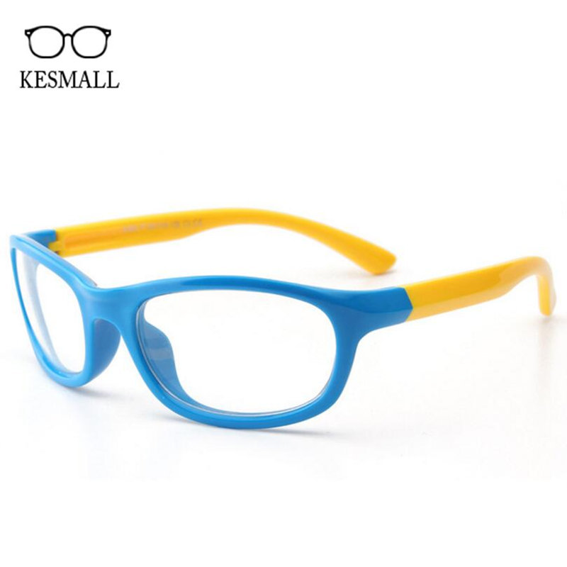 KESMALL New Optical Children Glasses Frame Girls Soft Silicone Spectacle Frames Boys Gaming Eyewear Clear Lens Eyeglasses XN884
