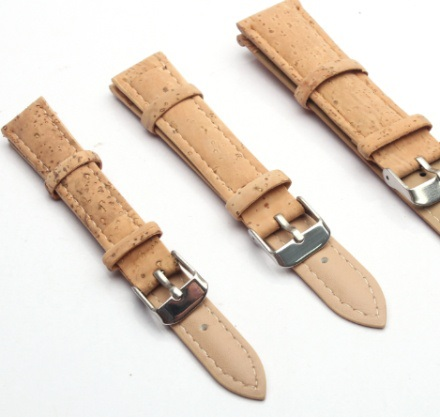 Natural Cork Watch Strap Beige Watch Band Vegan Cork Strap 20mm 18mm 16mm 14mm Cork Leather Handmade Eco Watch Strap E-911