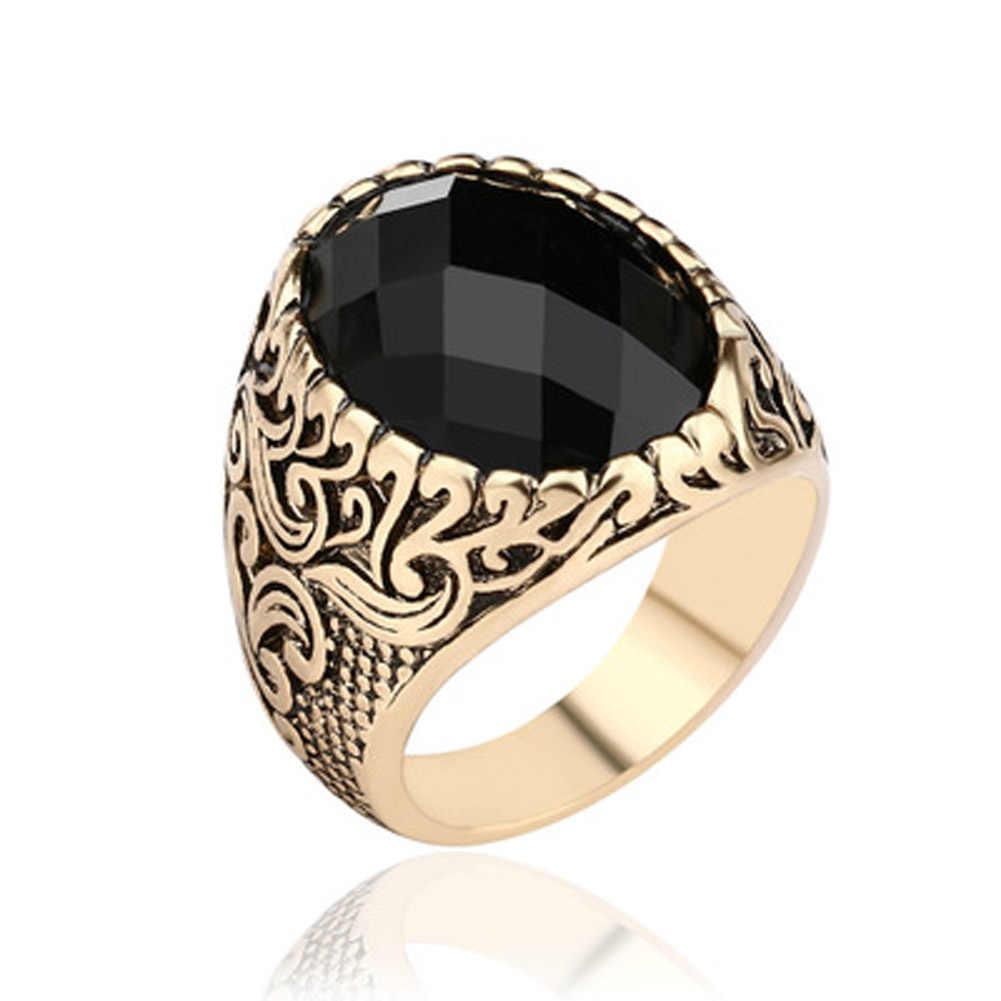 ใหม่แฟชั่นคริสตัลแหวนเครื่องประดับ CZ แหวนผู้ชายเครื่องประดับของขวัญขายส่ง