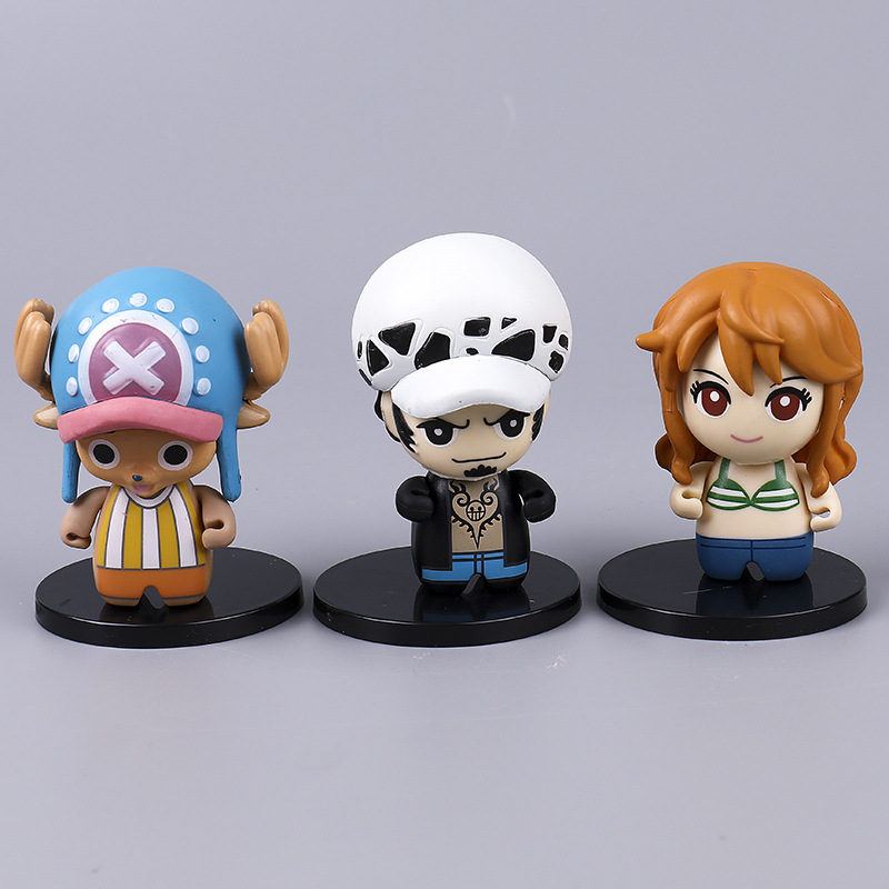 Q Version Of The Anime Pirate King Doll Hand Model Luffy Sanji Nami Chopper Ornaments in Action Toy Figures from Toys Hobbies