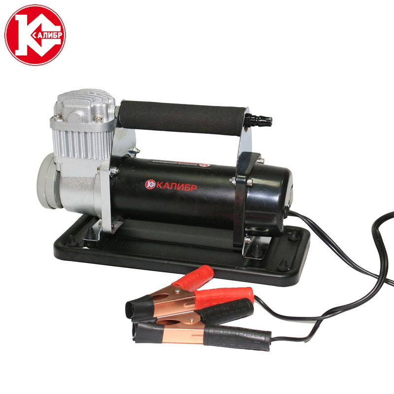 Kalibr AK75-R20 Low Noise Double Cylinder Car Air Compressor Car Tire Inflatable Pump for Car Emergency With Handbag sc100 100 standard air cylinders with 100mm bore and 100mm stroke sc100 100 single rod double acting pneumatic cylinder