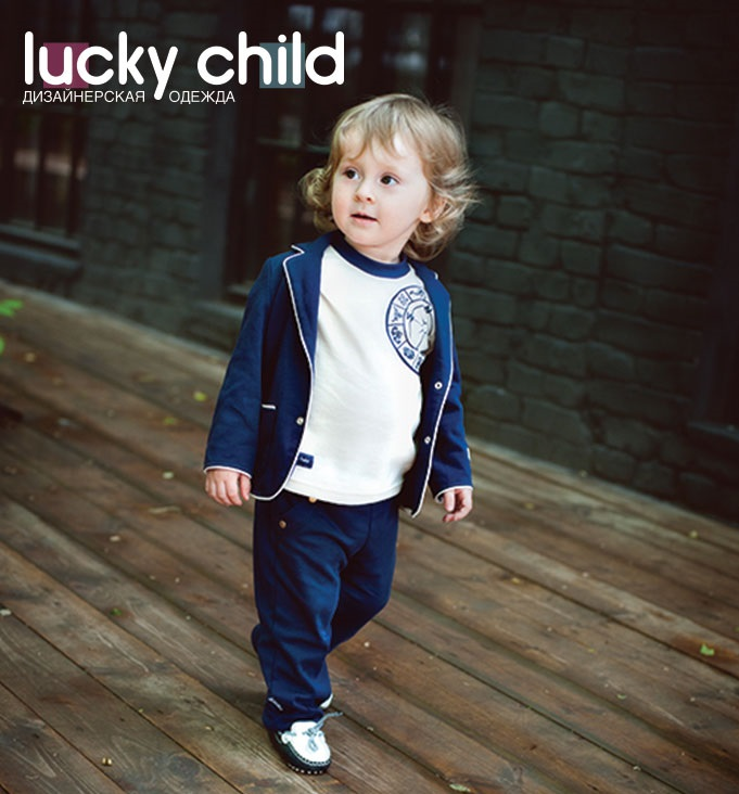 Фото - Hoodies &  Sweatshirt Lucky Child for boys 28-82Mf  Kids  Baby clothing  Children clothes Jersey Blouse contrast lace keyhole back blouse