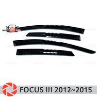 Venster deflector voor Ford Focus 3 2012 ~ 2015 regen deflector vuil bescherming auto styling decoratie accessoires molding