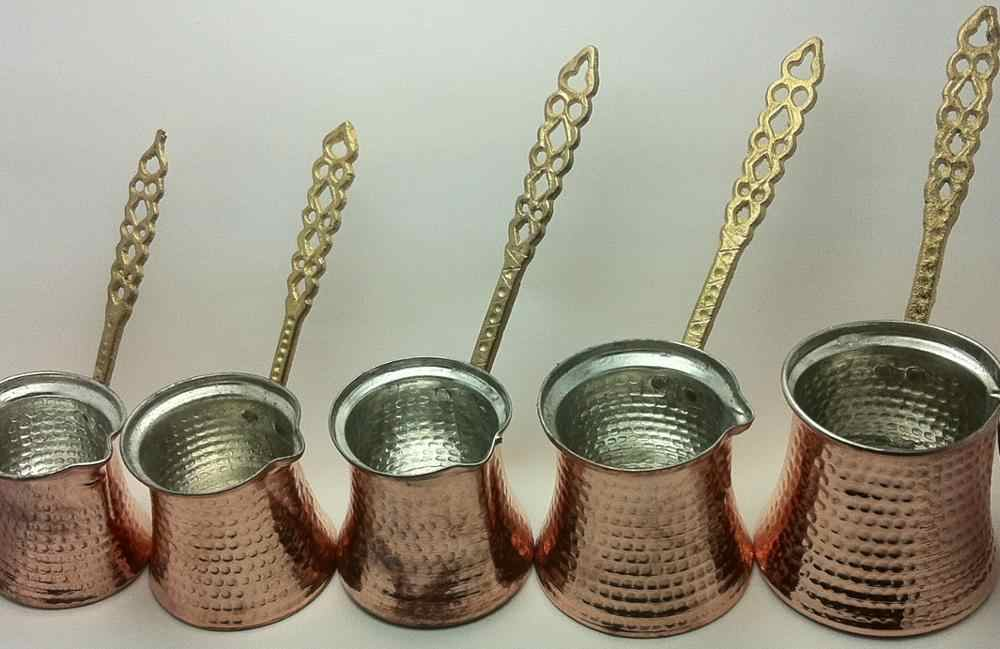 Traditional Turkish Coffee Pot, Cezve, Ibrik,Hand Hammered Copper Maker, Jezve TRACKING RED handmade