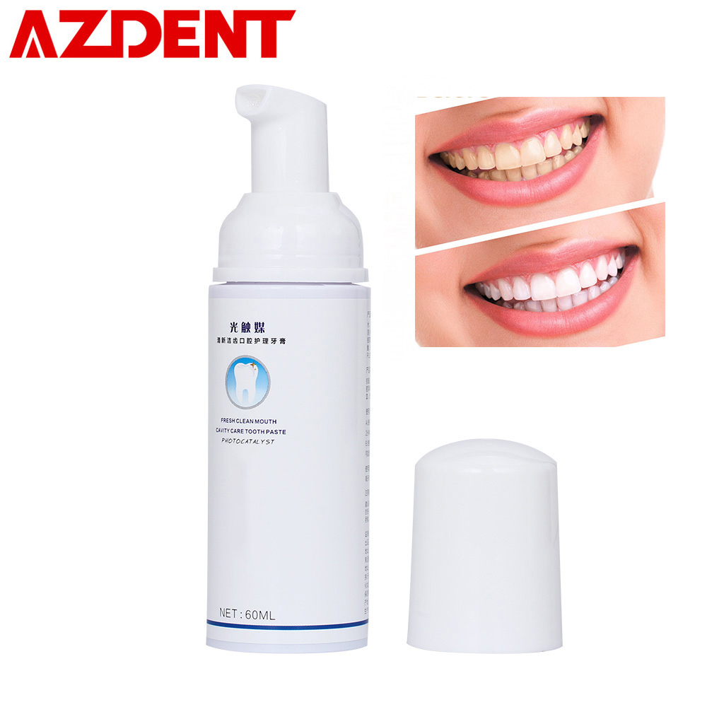 60ml Foam Liquid Toothpaste Natural Fresh Clean Mouth Cavity Care Toothpaste for Automatic Electric Toothbrush Tooth Cleaning60ml Foam Liquid Toothpaste Natural Fresh Clean Mouth Cavity Care Toothpaste for Automatic Electric Toothbrush Tooth Cleaning