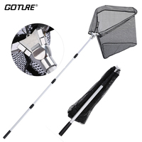 Goture Super Large Fishing Landing Net Small Mesh Folding Fishing Network 1 5M 2 1M Big