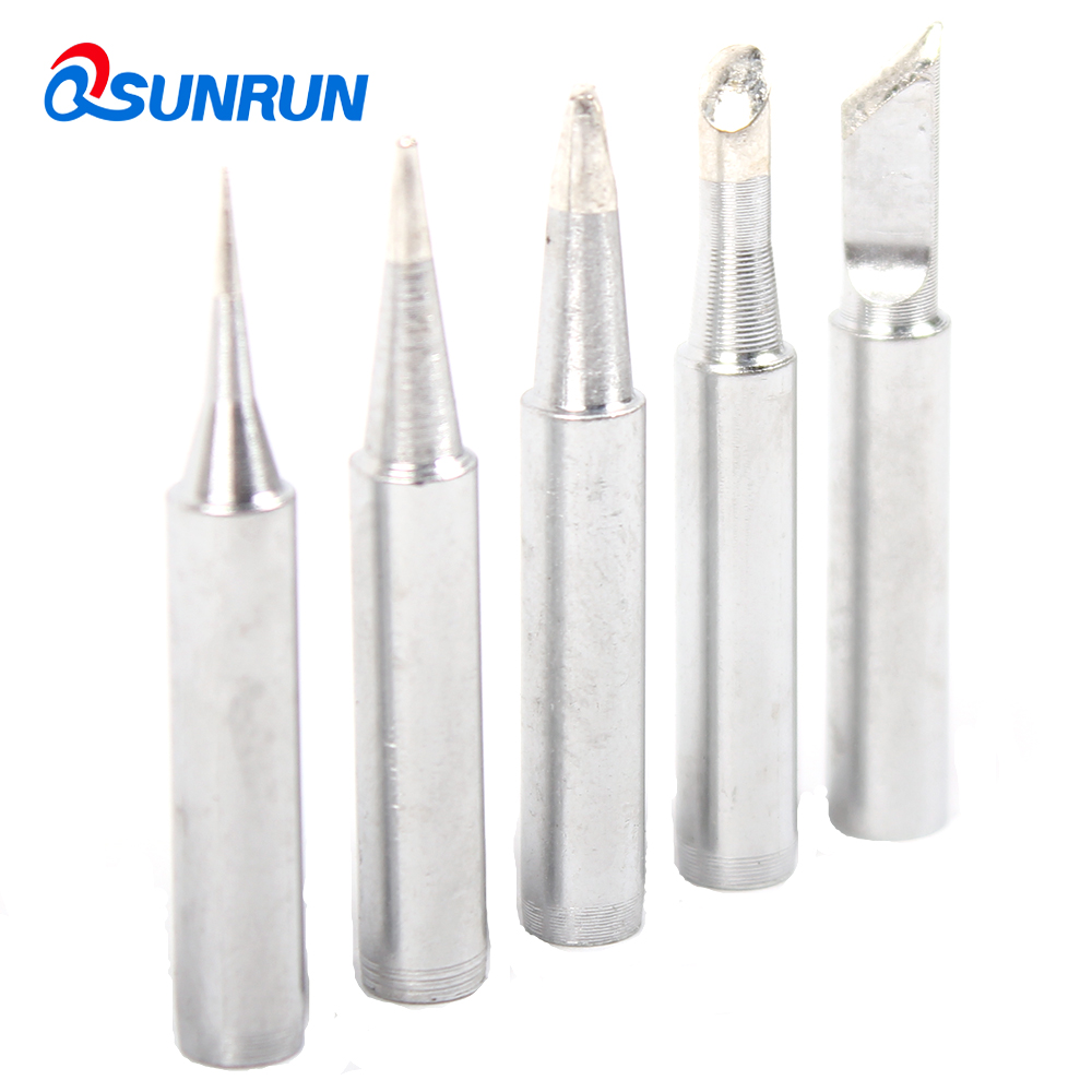 QSUNRUN 5PCS/SET Soldering Tips 900M-T-I K B 2.4D 3C  60Watt  Replacement For Eletric Solder Iron P36 Solder Station